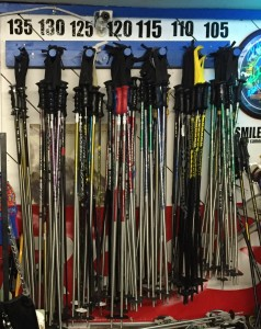 Ski and Snowboard Rentals Soda Springs Step 3 Skis and Poles