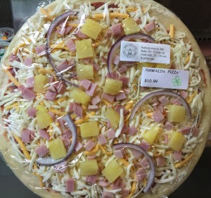 Take and Bake Pizza at Soda Springs General Store Hawaiian Pizza